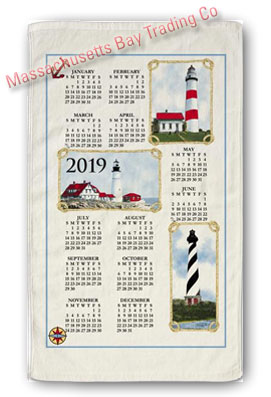 2019 Lighthouses Calendar Towel