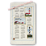 2019 Lighthouses Calendar Towel