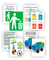 Recycling truck learning cards