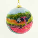 Cranberry Harvest Ball Ornament
