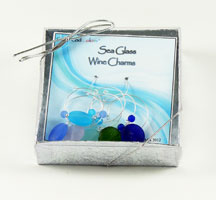 Sea Glass wine charms